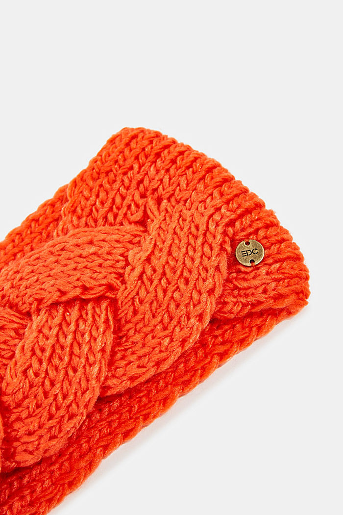 Recycled: headband with a braided detail, ORANGE, detail image number 1