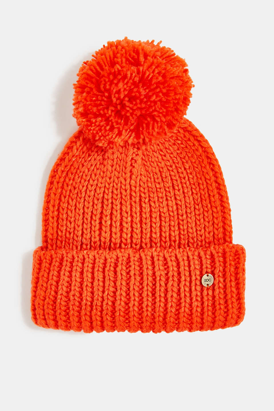 edc - Recycled: knitted hat with a pompom