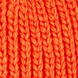 Recycled: knitted hat with a pompom, ORANGE, swatch