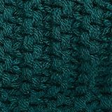 Recycled: textured snood scarf, DARK TEAL GREEN, swatch