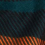 Recycled: woven scarf with a mix of patterns, DARK TEAL GREEN, swatch