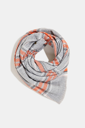 Recycled: scarf with a woven check