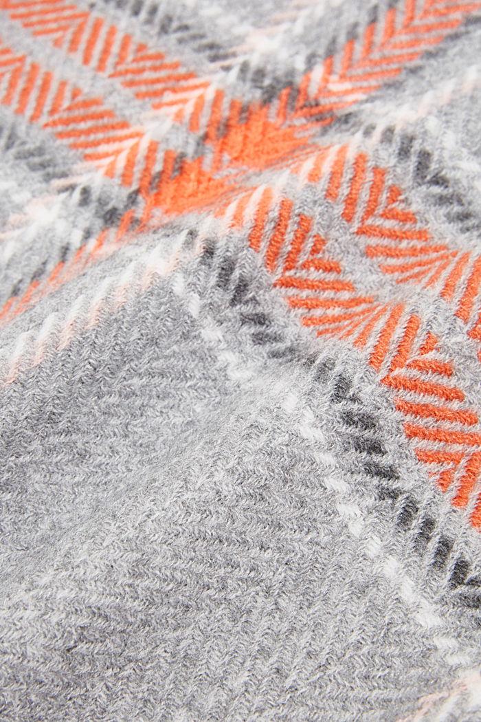 Recycelt: Schal mit Web-Karo, MEDIUM GREY, detail image number 2