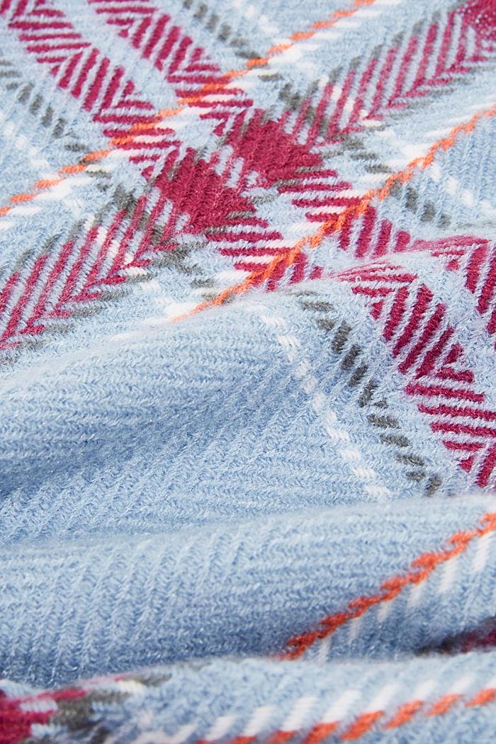 Recycelt: Schal mit Web-Karo, PASTEL BLUE, detail image number 2