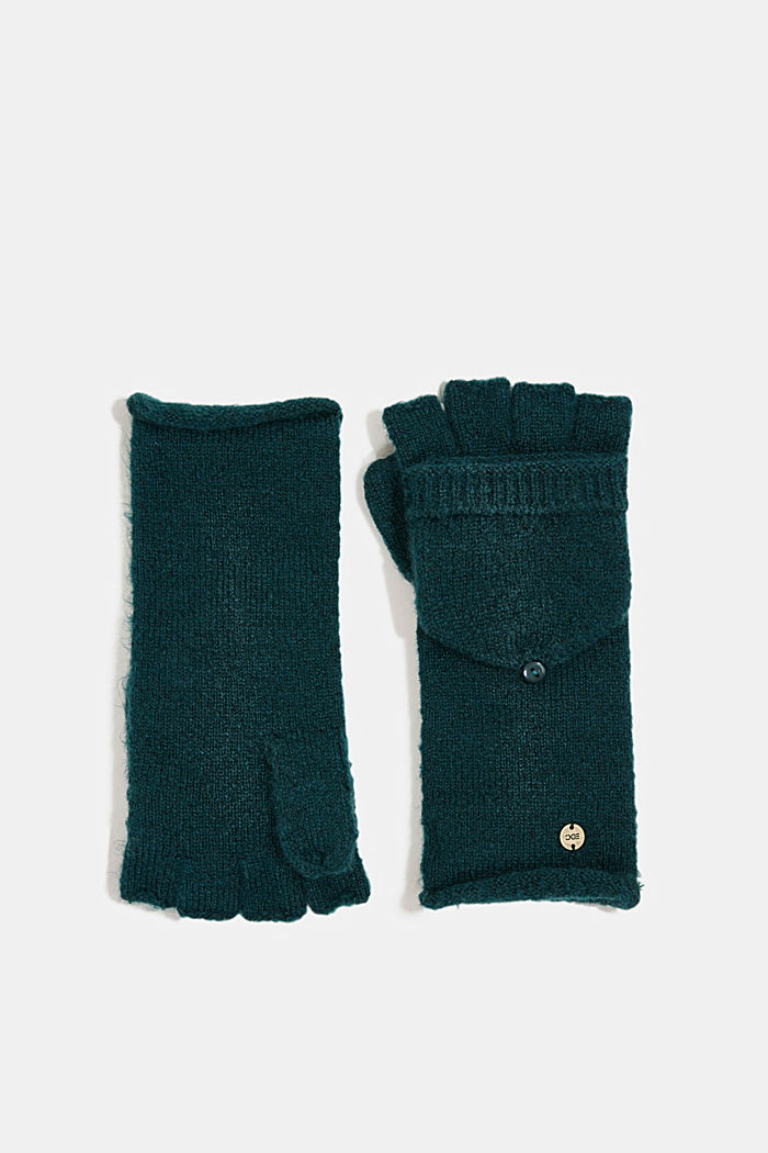 Recycled: 2-in-1 gloves, DARK TEAL GREEN, detail image number 0