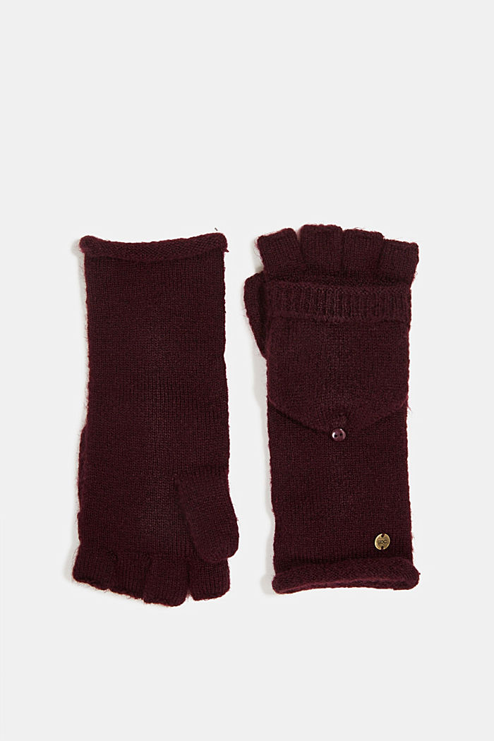 Recycled: 2-in-1 gloves, AUBERGINE, detail image number 0
