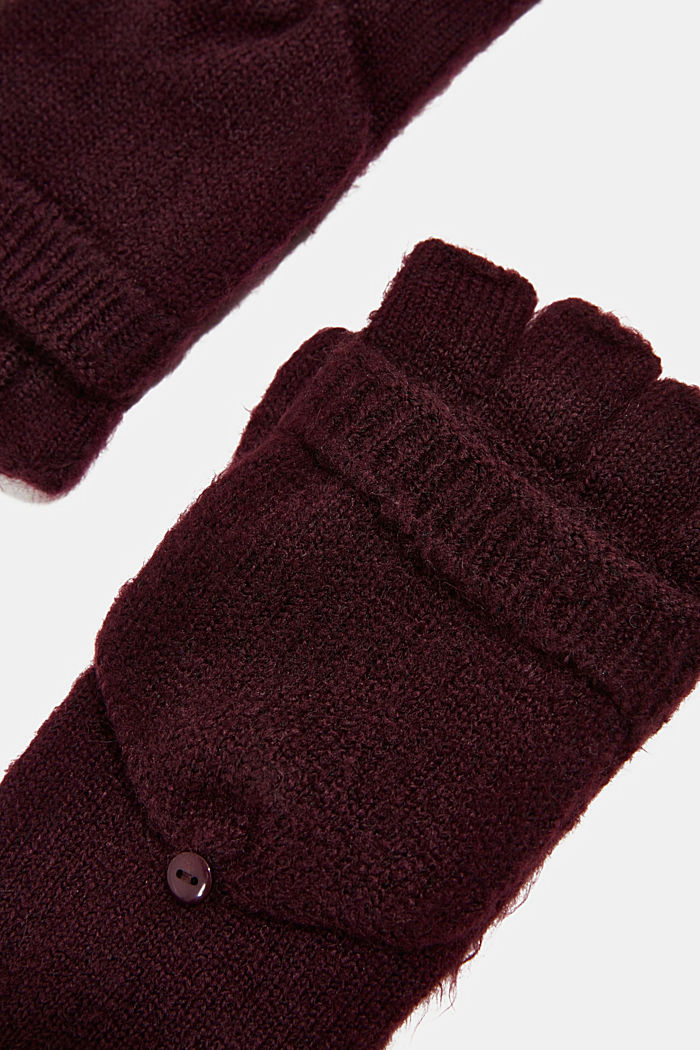 Recycled: 2-in-1 gloves, AUBERGINE, detail image number 1