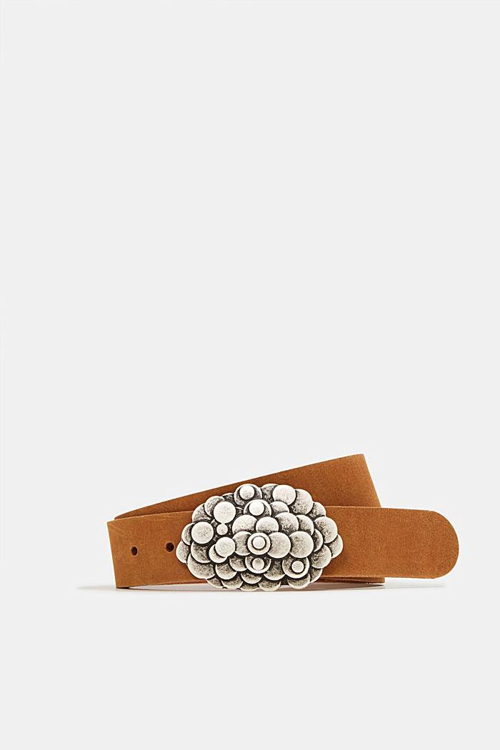 Koppelgürtel aus Büffelleder, RUST BROWN, detail image number 0