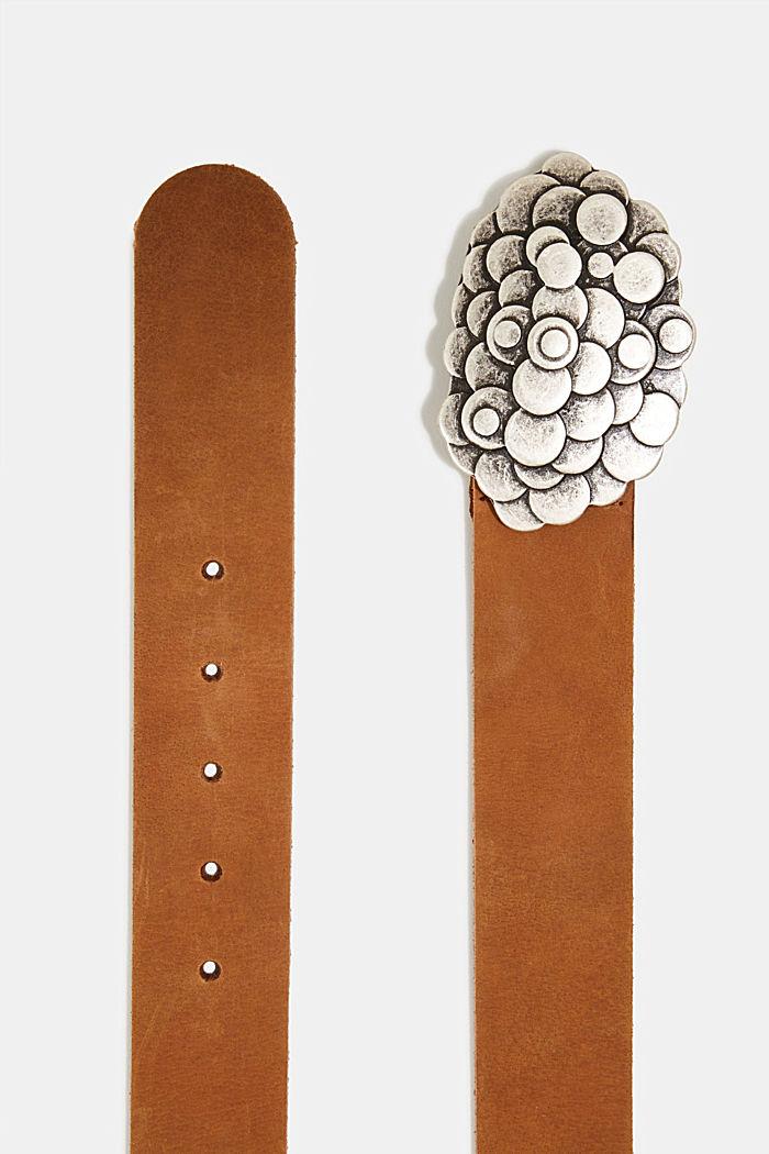 Koppelgürtel aus Büffelleder, RUST BROWN, detail image number 1
