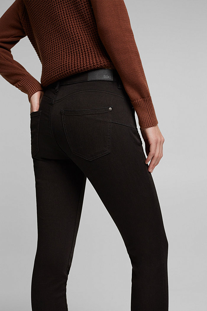 Figure flattering jeans with organic cotton, BLACK RINSE, detail image number 2