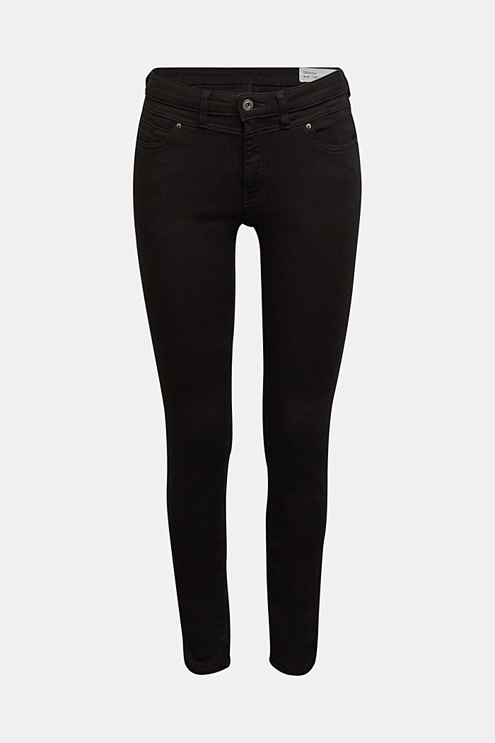 Figure flattering jeans with organic cotton, BLACK RINSE, detail image number 5