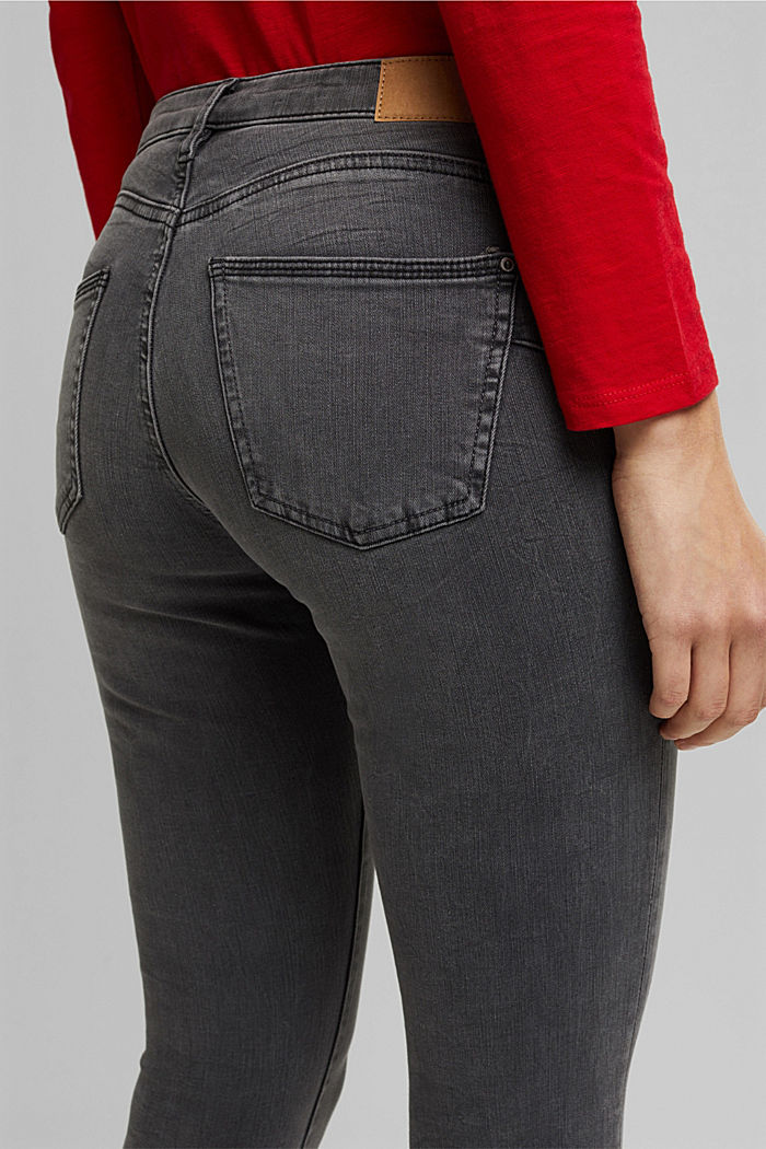 Figure flattering jeans with organic cotton, GREY MEDIUM WASHED, detail image number 2