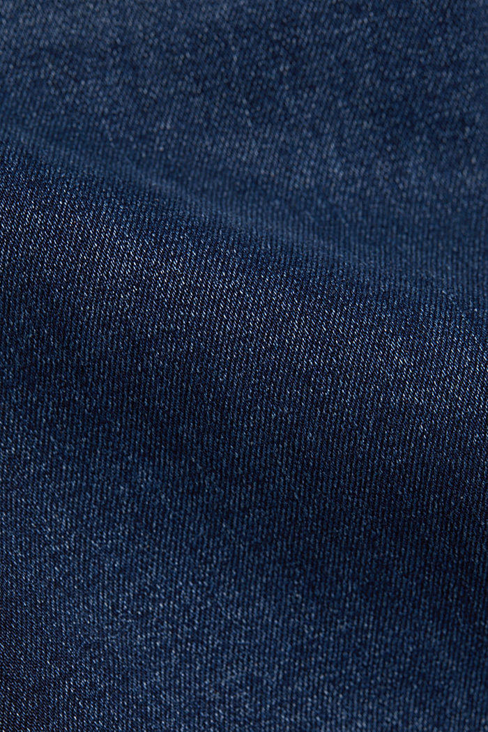 Stretch jeans containing organic cotton, BLUE BLACK, detail image number 4