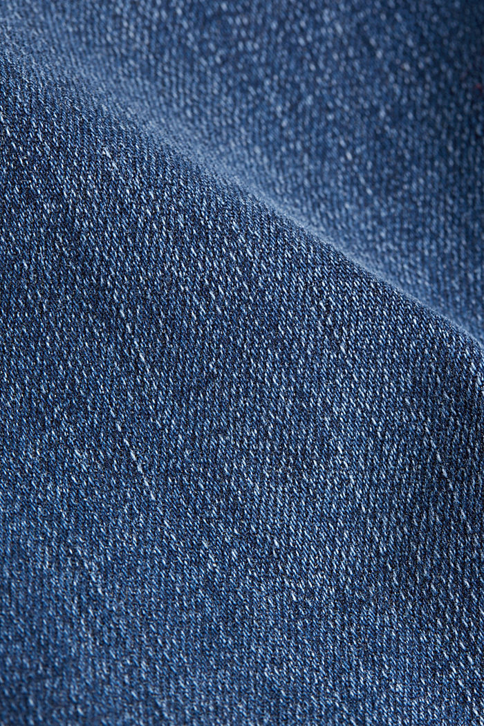 Bootcut jeans with vintage details, BLUE DARK WASHED, detail image number 4
