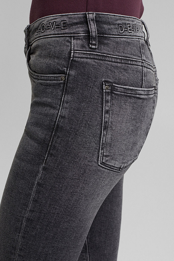 Stretch jeans containing organic cotton, BLACK MEDIUM WASHED, detail image number 2