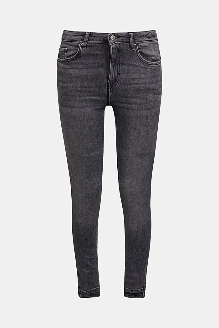 Stretch jeans containing organic cotton, BLACK MEDIUM WASHED, detail image number 7