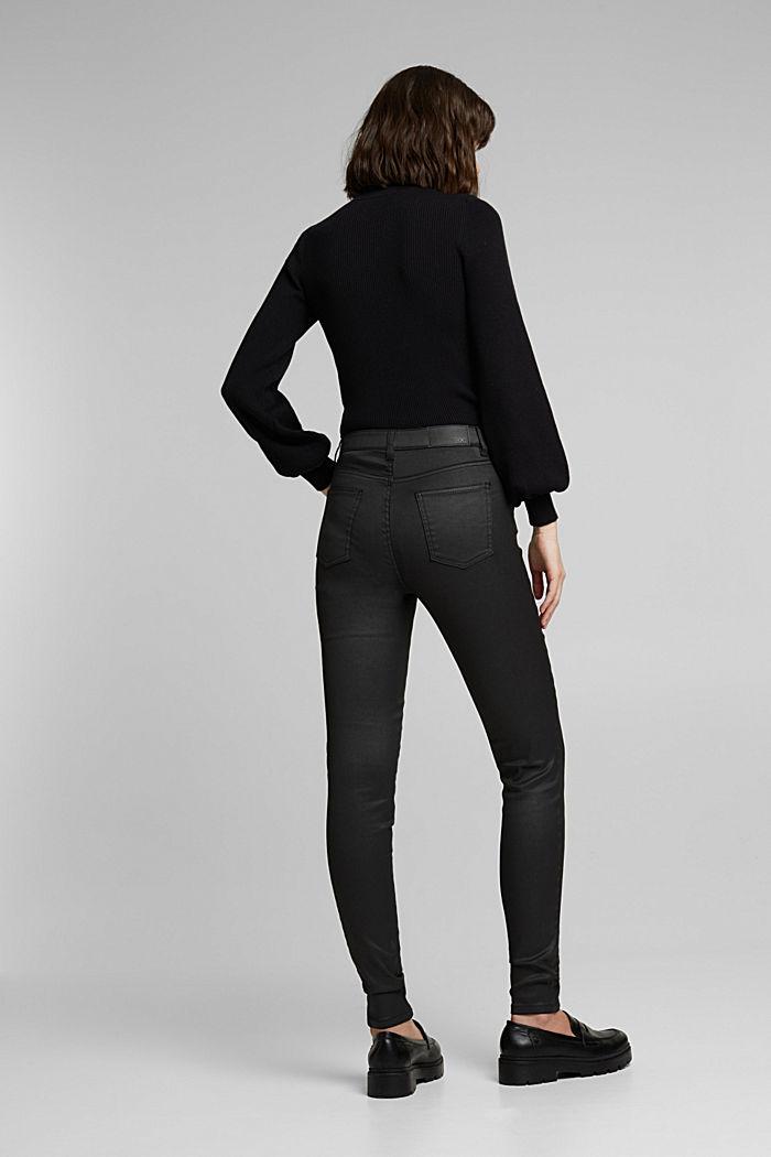 Beschichtete Hose mit Ziernähten, BLACK, detail image number 3