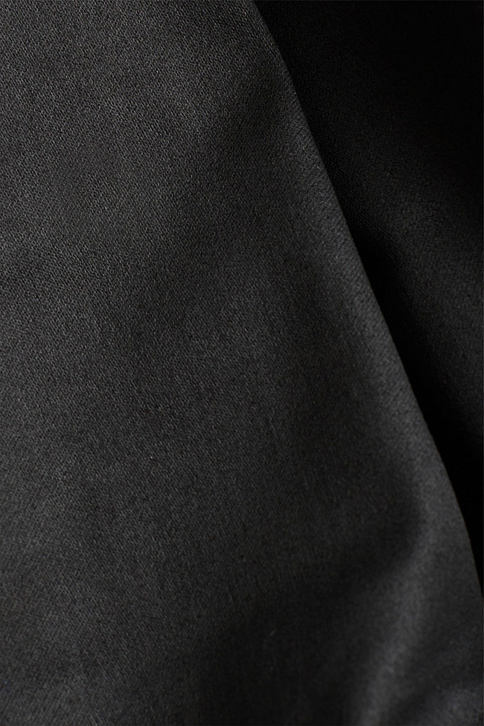 Coated trousers with decorative stitching, BLACK, detail image number 4