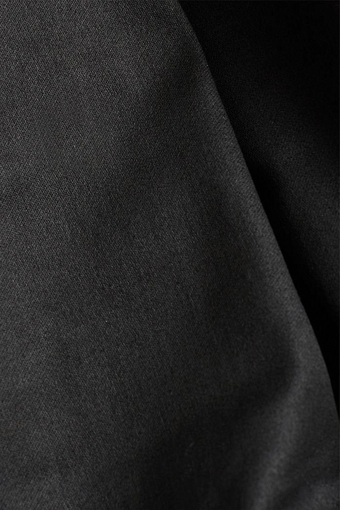 Beschichtete Hose mit Ziernähten, BLACK, detail image number 4
