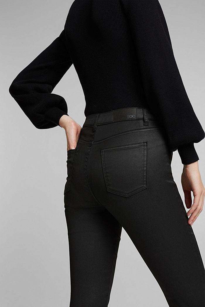 Beschichtete Hose mit Ziernähten, BLACK, detail image number 6