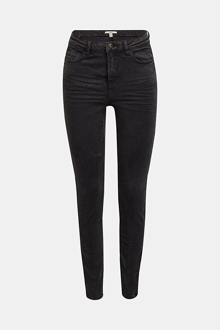 Coated trousers with decorative stitching, BLACK, detail image number 7