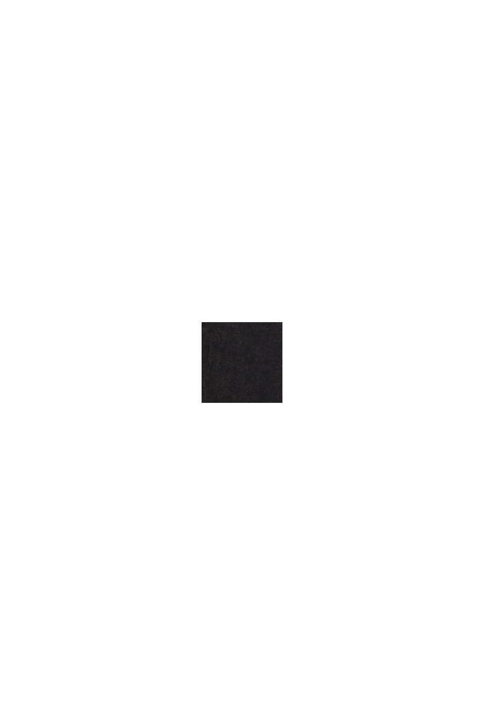 Beschichtete Hose mit Ziernähten, BLACK, swatch
