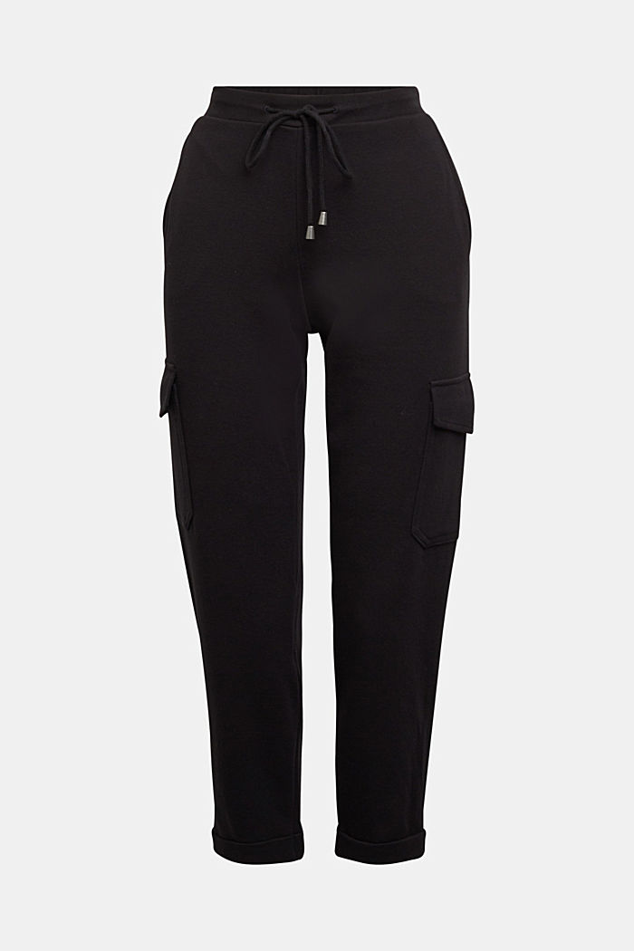 Tracksuit bottoms with cargo details, BLACK, detail image number 7