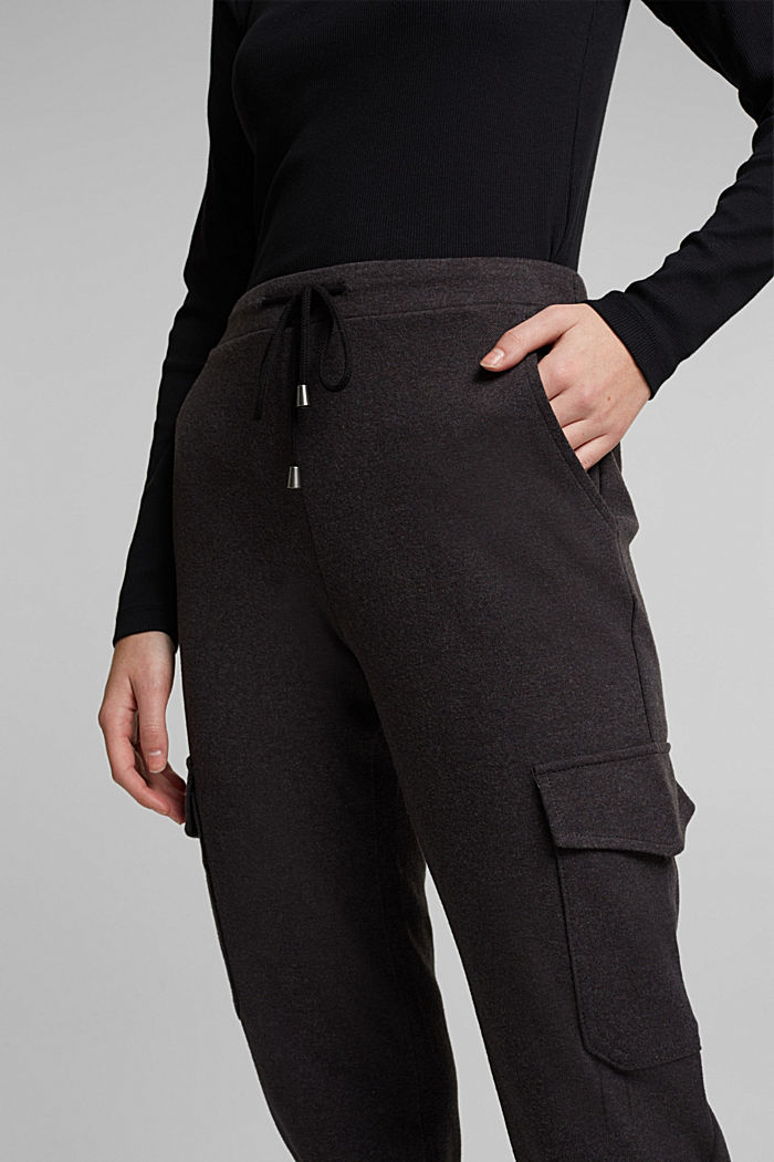 Tracksuit bottoms with cargo details, GUNMETAL, detail image number 5