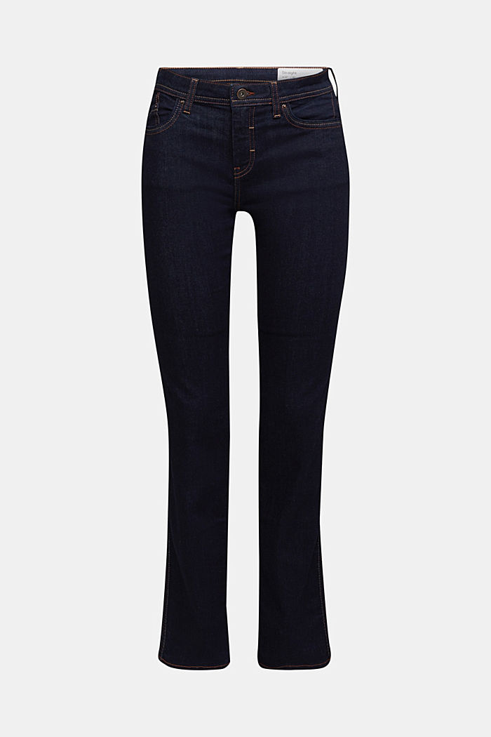 Stretch jeans containing organic cotton, BLUE RINSE, detail image number 6