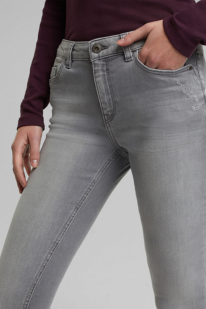 Stretch jeans containing organic cotton, GREY MEDIUM WASHED, detail image number 5