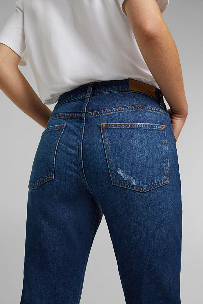 Boyfriend jeans with organic cotton, BLUE DARK WASHED, detail image number 2
