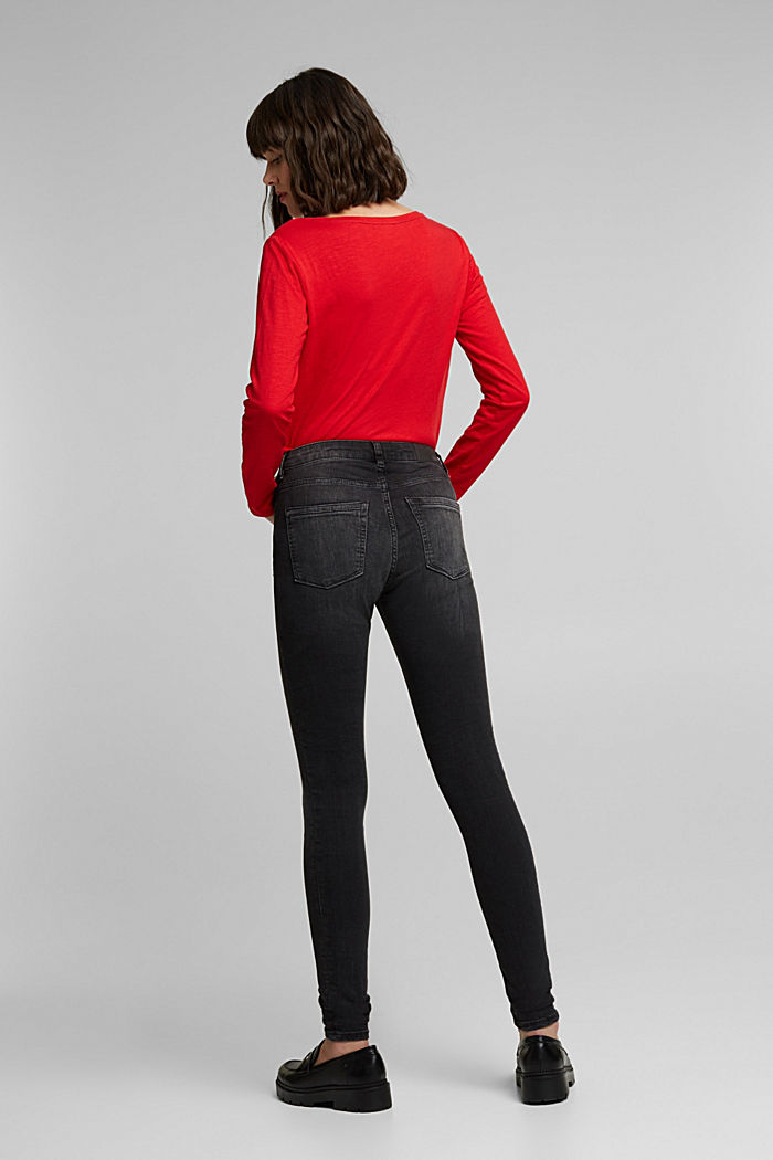 Stretch jeggings containing organic cotton, BLACK MEDIUM WASHED, detail image number 3