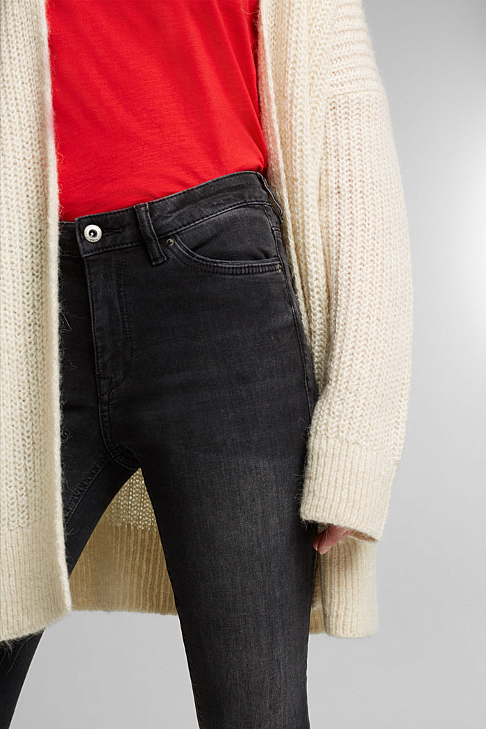 Stretch jeggings containing organic cotton, BLACK MEDIUM WASHED, detail image number 2