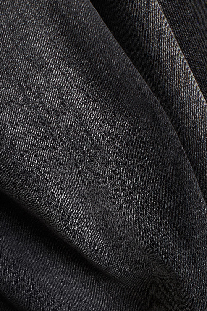 Stretch jeggings containing organic cotton, BLACK MEDIUM WASHED, detail image number 4