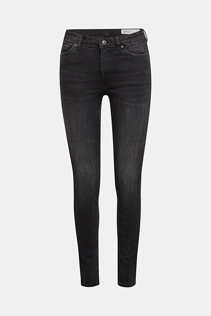 Stretch jeggings containing organic cotton, BLACK MEDIUM WASHED, detail image number 6