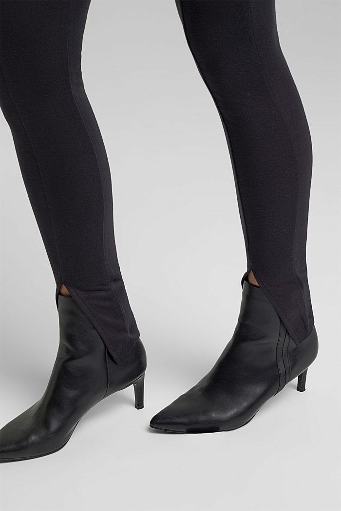 Leggings with slit legs, BLACK, detail image number 5