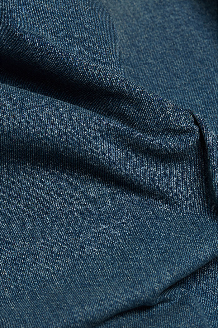 Straight jeans made of 100% cotton, BLUE MEDIUM WASHED, detail image number 4