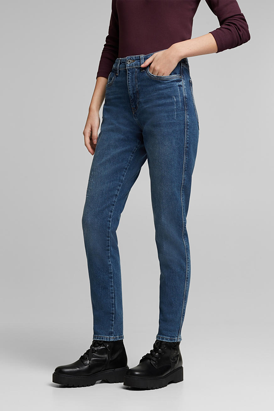 Mom jeans med stretch