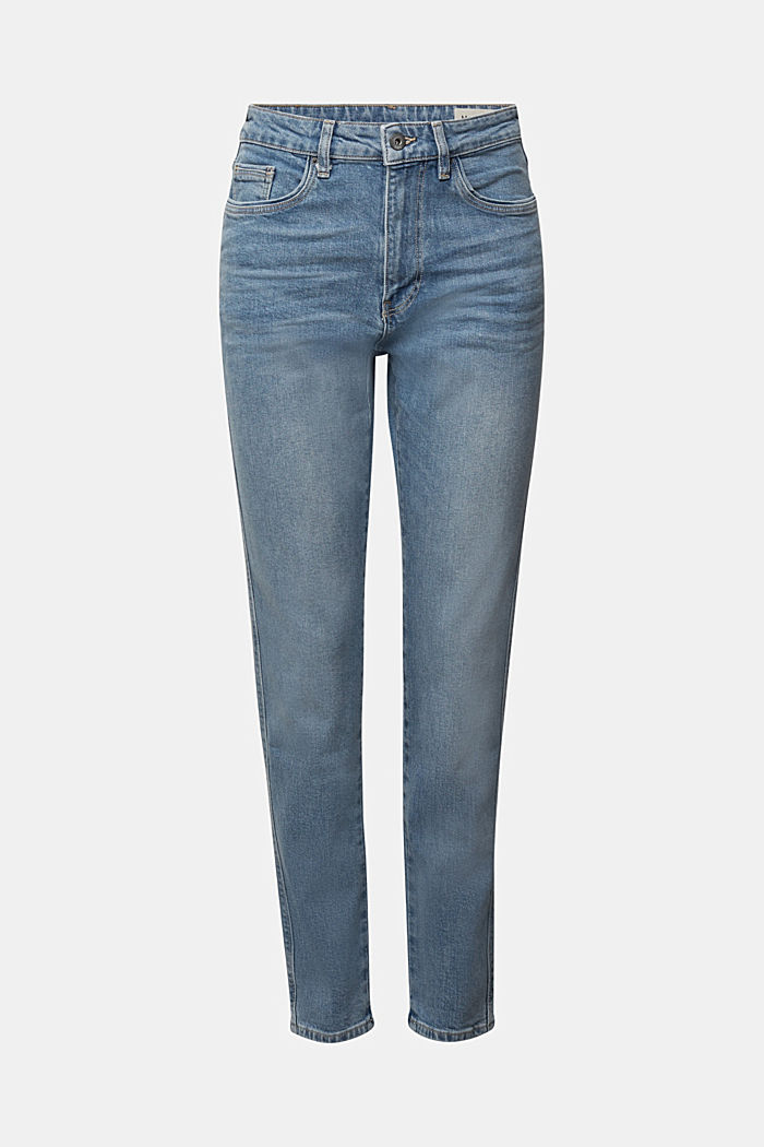 Mom jeans with stretch, BLUE MEDIUM WASHED, detail image number 6