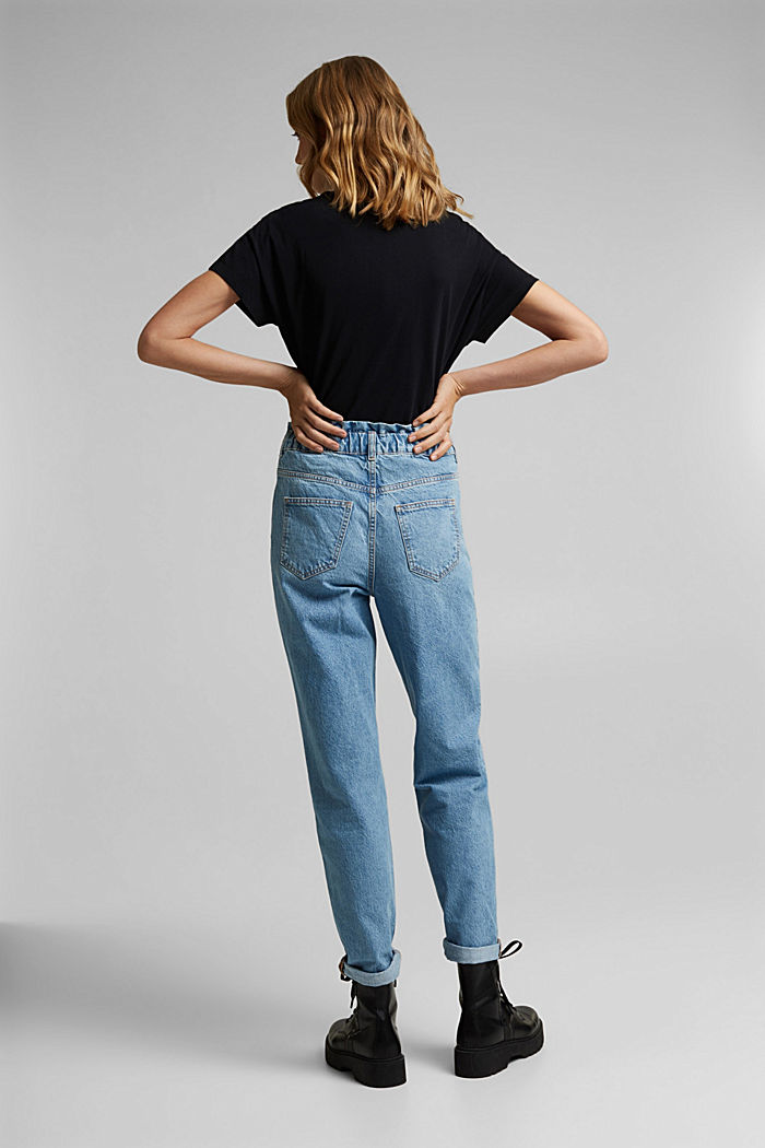 High-Rise-Jeans mit Organic Cotton, BLUE LIGHT WASHED, detail image number 3