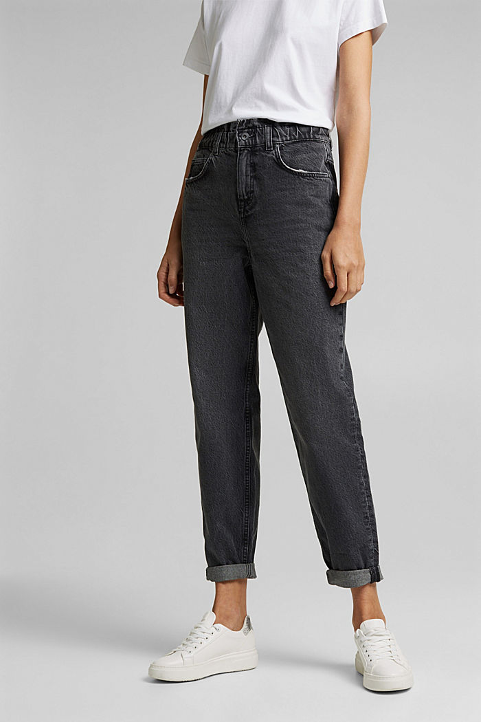 High-rise jeans with organic cotton