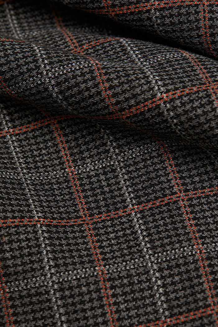 Recycled: checked jersey skirt, ANTHRACITE, detail image number 4