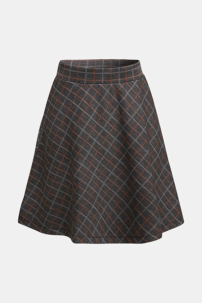 Recycled: checked jersey skirt
