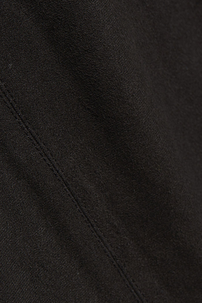 Recycled: Faux leather mini skirt, BLACK, detail image number 4
