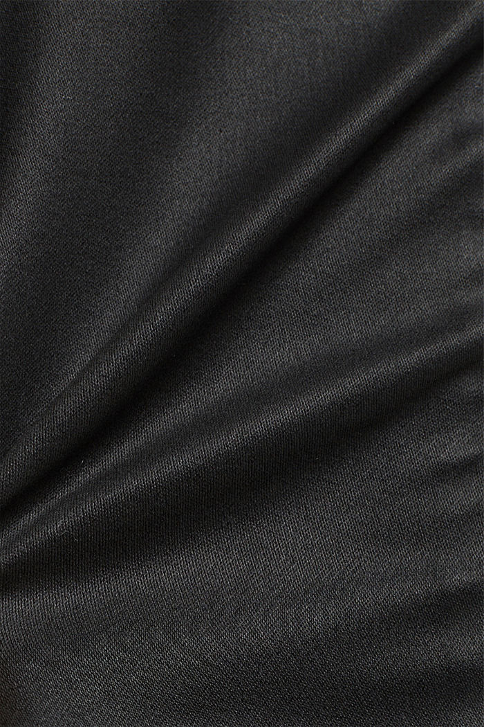 Beschichteter Jersey-Rock, BLACK, detail image number 4