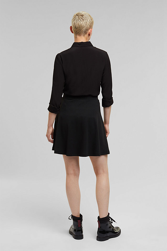 Recycled: Mini skirt made of jersey, BLACK, detail image number 3