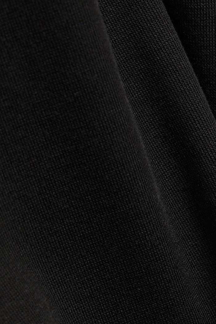 Recycled: Mini skirt made of jersey, BLACK, detail image number 4