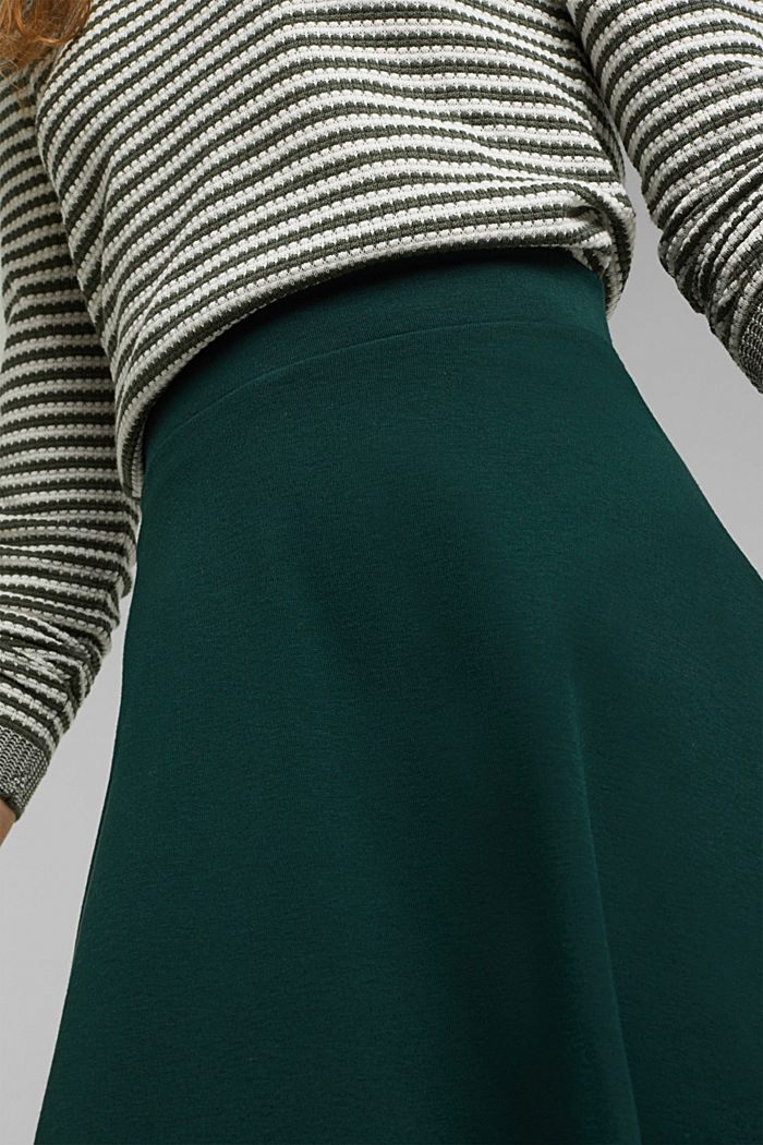 Recycled: Mini skirt made of jersey, DARK TEAL GREEN, detail image number 2