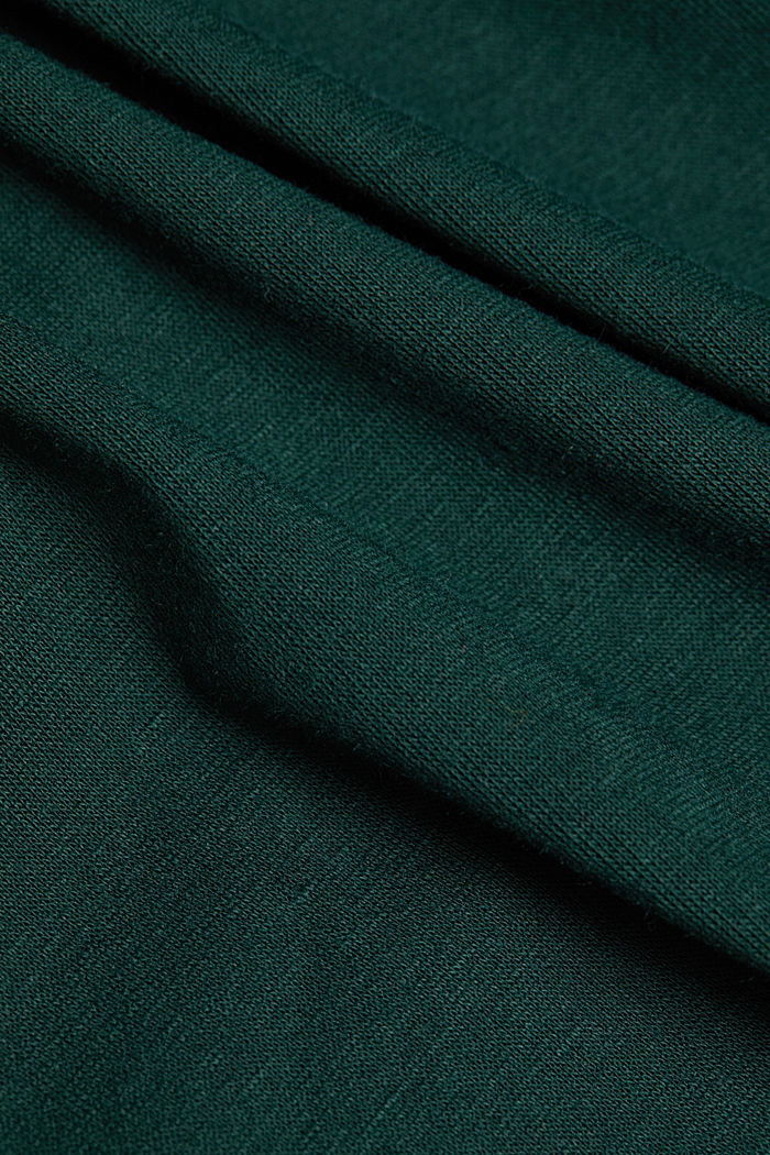 Recycled: Mini skirt made of jersey, DARK TEAL GREEN, detail image number 4