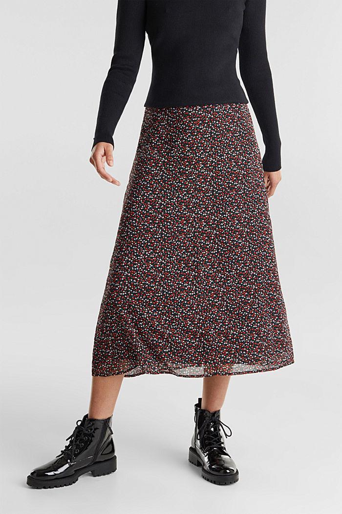 REPREVE® mille-fleurs chiffon skirt